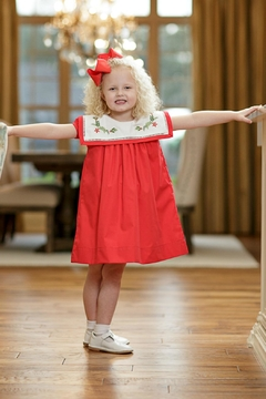 The Oaks Apparel Christmas Holly Dress - Product List Image
