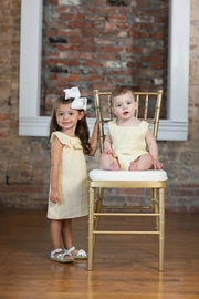 The Oaks Apparel Jillian Yellow-Seersucker Dress - Front full body