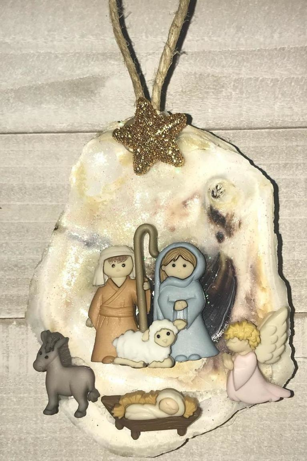 The Oyster's Pearl Oyster Nativity Ornament - Main Image