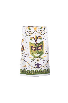 The Parish Line Mardi-Gras Mask Towel - Alternate List Image