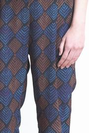 The Podolls Chevron Ankle Silk Pants - Front full body
