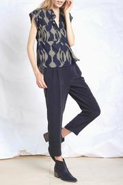 The Podolls Thira Ikat Top - Back cropped
