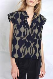 The Podolls Thira Ikat Top - Side cropped