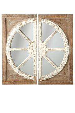 Shoptiques Product: Distressed Window Mirrors