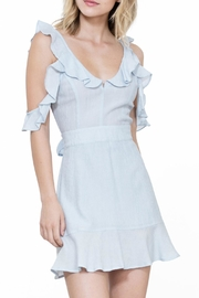 The Room Blue Ruffle Dress - Product Mini Image