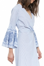 The Room Embroidered Wrap Dress - Front full body