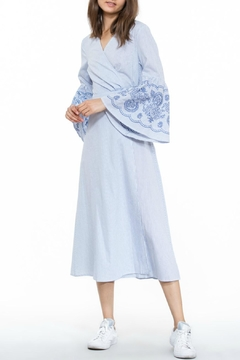 Shoptiques Product: Embroidered Wrap Dress