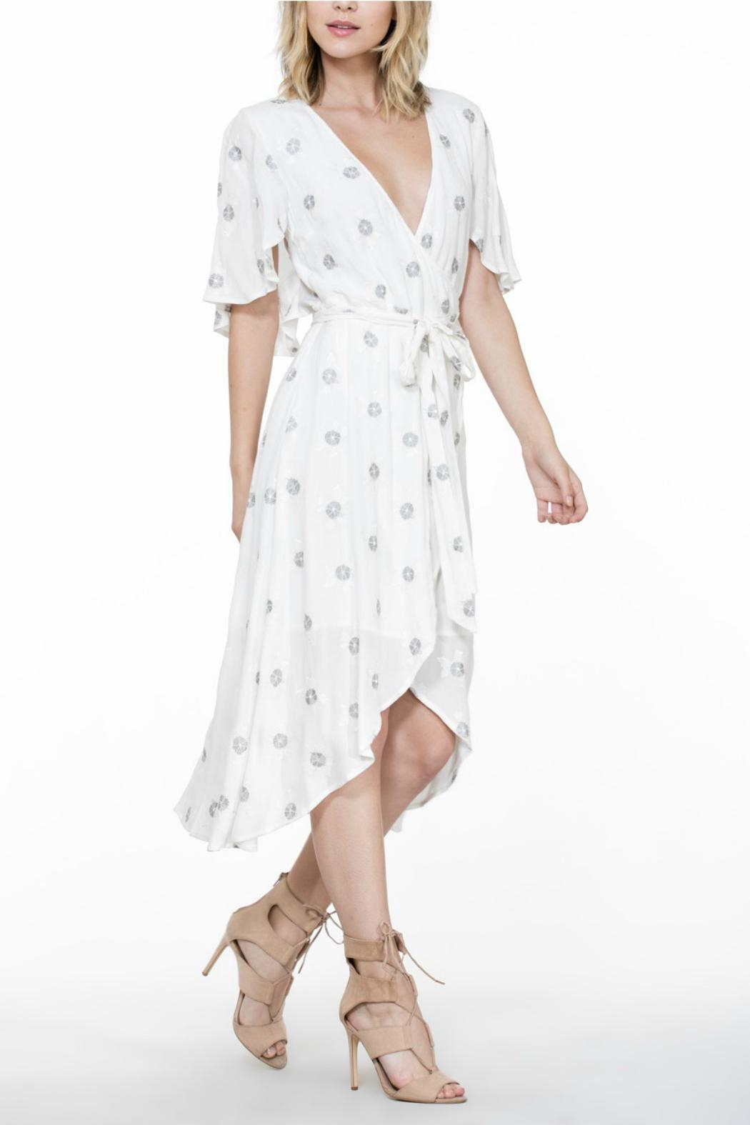 The Room Embroidery Wrap Dress - Front Full Image