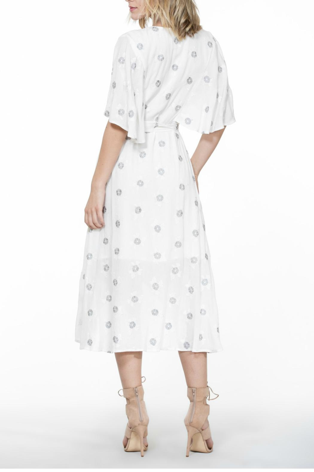 The Room Embroidery Wrap Dress - Side Cropped Image