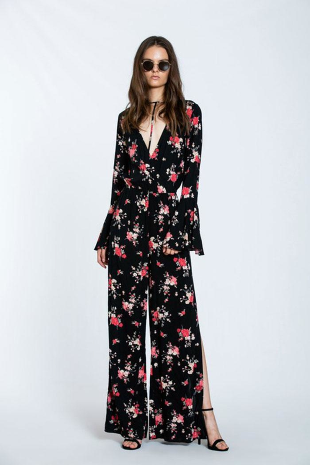 The Room Floral Maxi Romper - Back Cropped Image