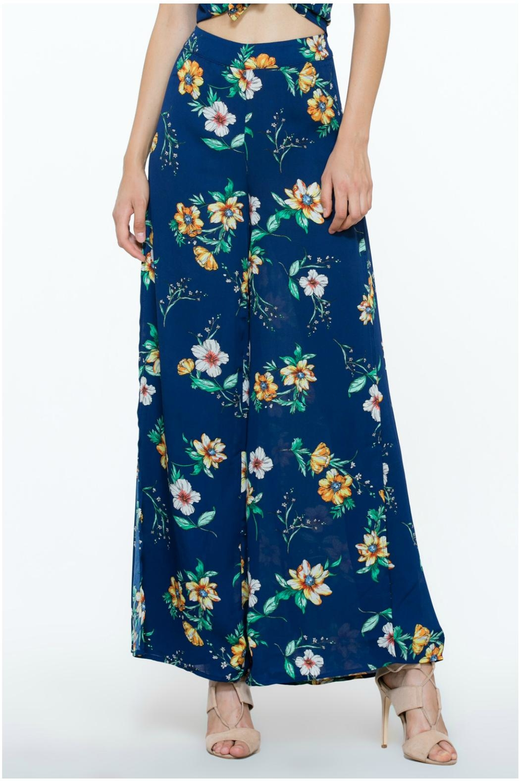 The Room Flower Long Pants - Side Cropped Image
