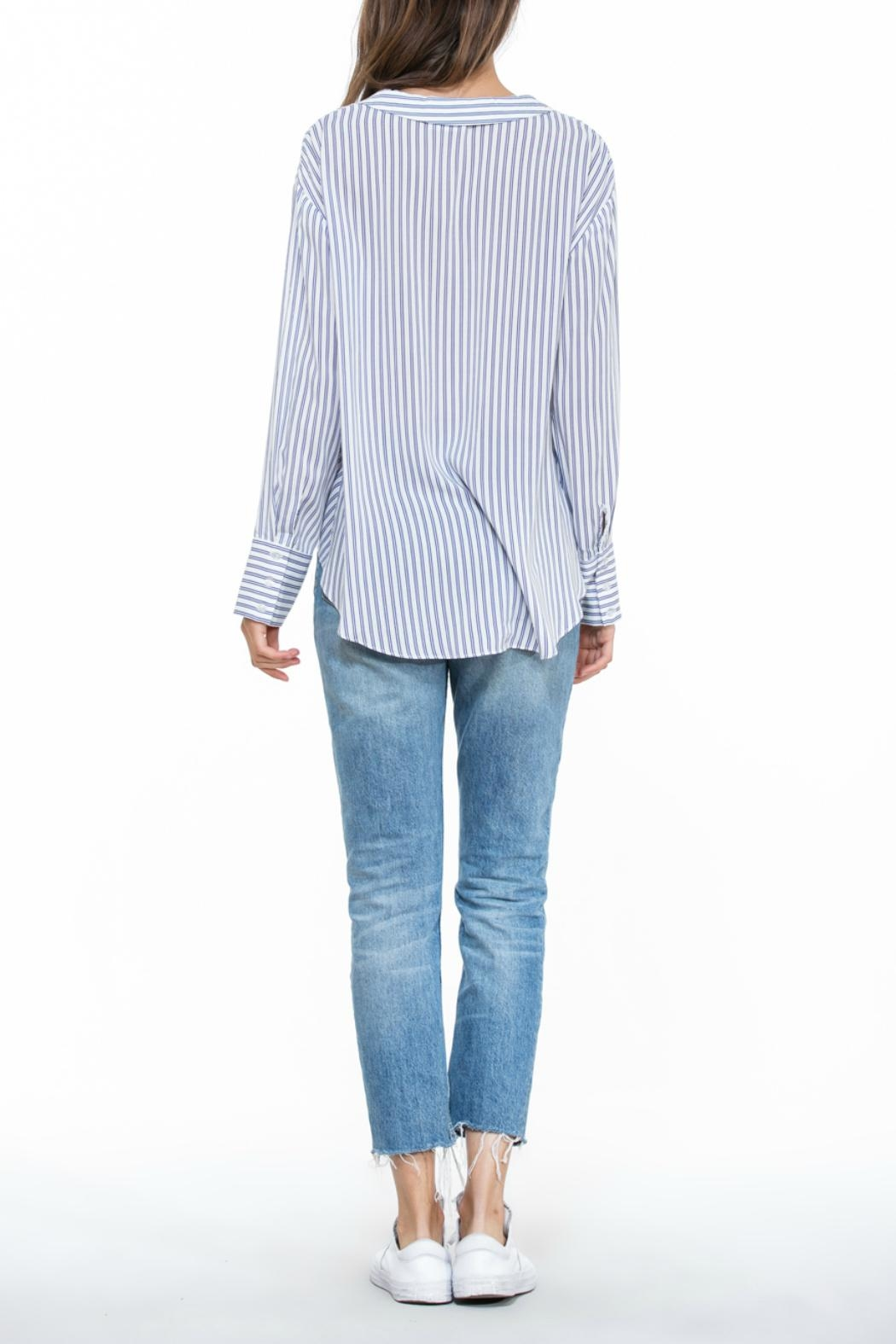 The Room Stripe Wrap Blouse - Side Cropped Image