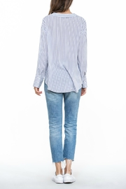 The Room Stripe Wrap Blouse - Side cropped