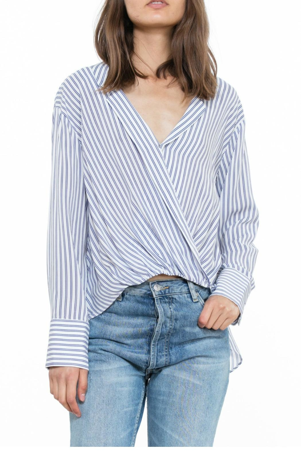 The Room Stripe Wrap Blouse - Main Image