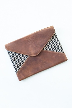 The Root Collective Handstitched Leather Clutch - Alternate List Image