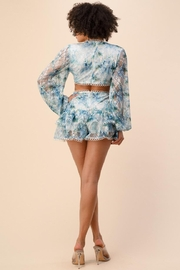 The Sang Cut-Out Lace Romper - Front full body