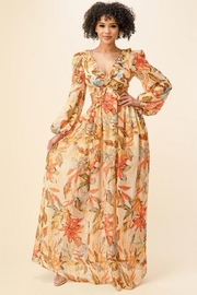 The Sang Floral Cut-Out Maxi - Product Mini Image