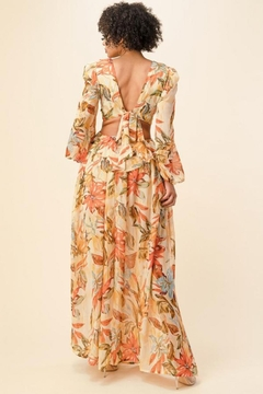 The Sang Floral Cut-Out Maxi - Alternate List Image