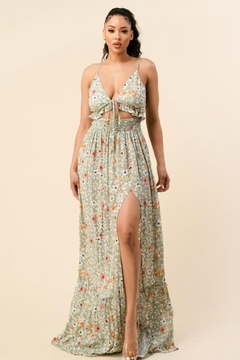 The Sang Floral Maxi Dress - Product List Image