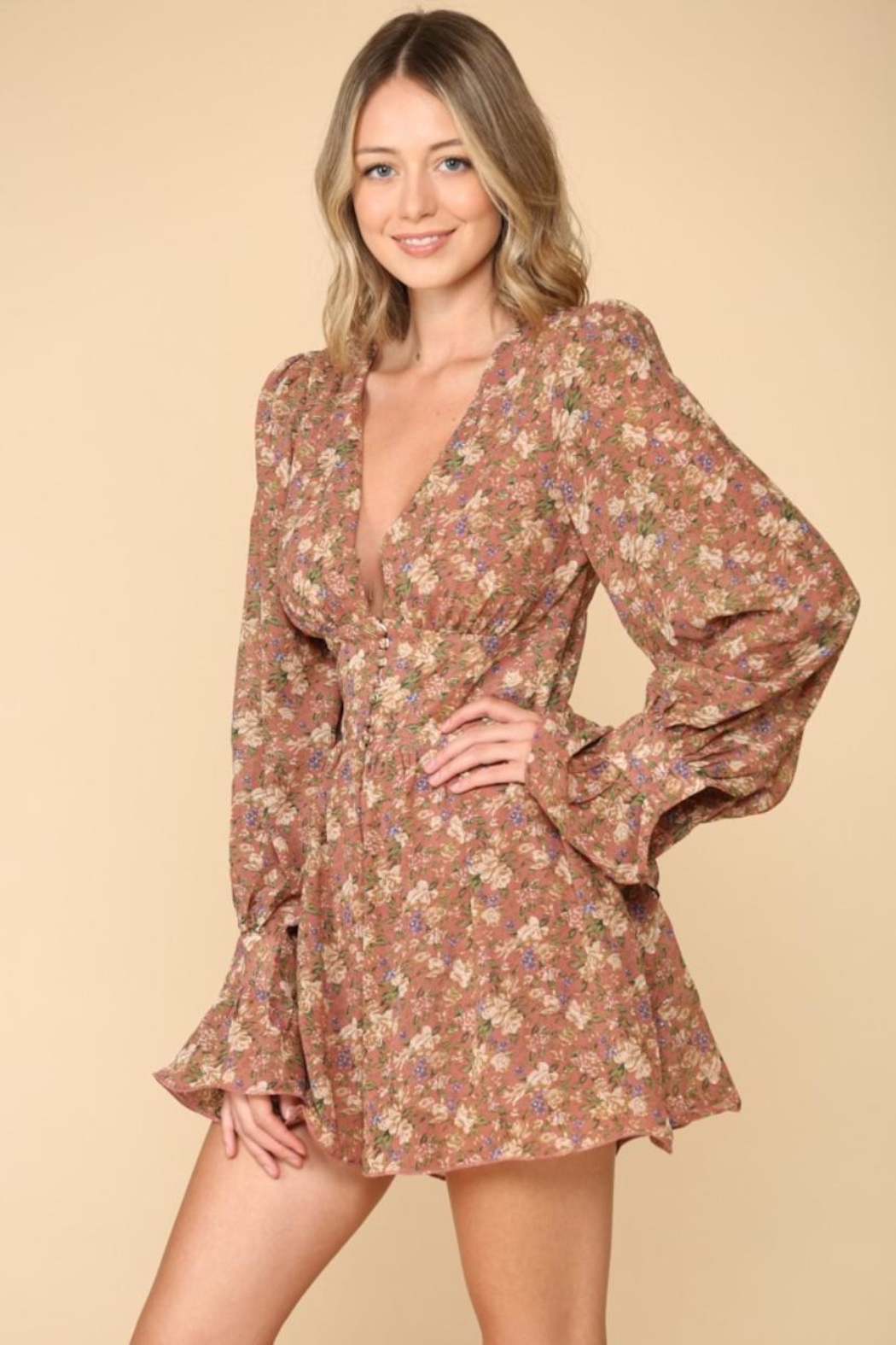 The Sang Floral Romper - Main Image