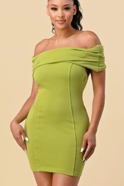 The Sang French Terry Off Shoulder Dress - Product Mini Image