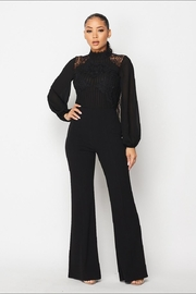 The Sang Lace Trim Jumpsuit - Front full body