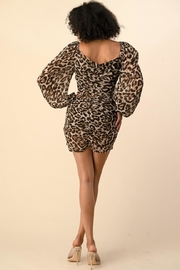 The Sang Leopard Mini Dress - Side cropped
