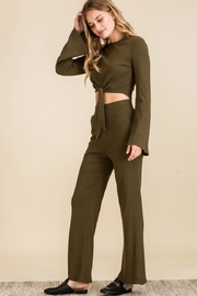 The Sang Olive Pants Set - Product Mini Image