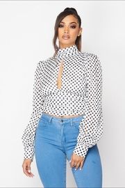 The Sang Open-Back Polkadot Top - Product Mini Image