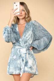 The Sang Pleated Tie-Dye Romper - Product Mini Image
