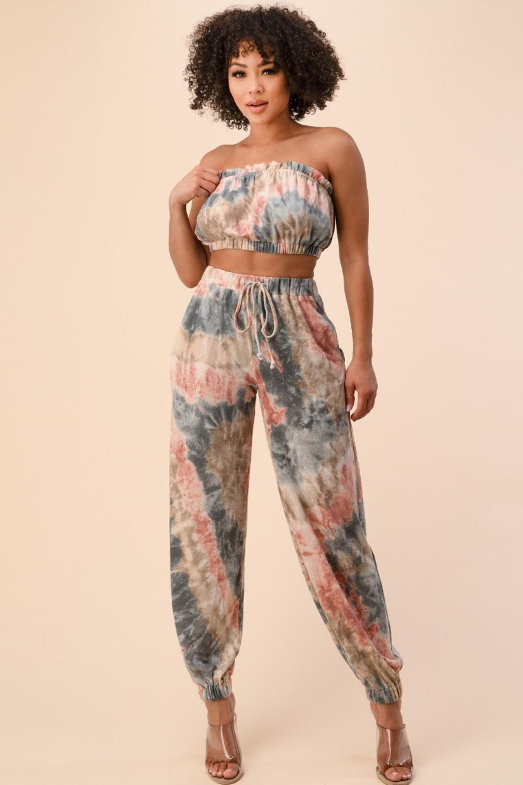 The Sang Tie-Dye Pants Set - Front Full Image