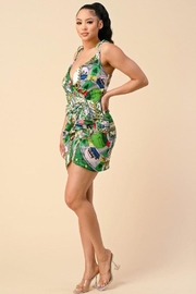 The Sang Wrap Multi Pattern Chain Dress - Other