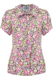 The Seamstress of Bloomsbury Floral Tie Blouse - Product Mini Image