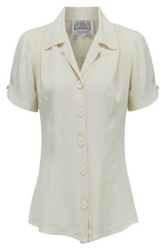 The Seamstress of Bloomsbury Grace Cream Blouse - Alternate List Image