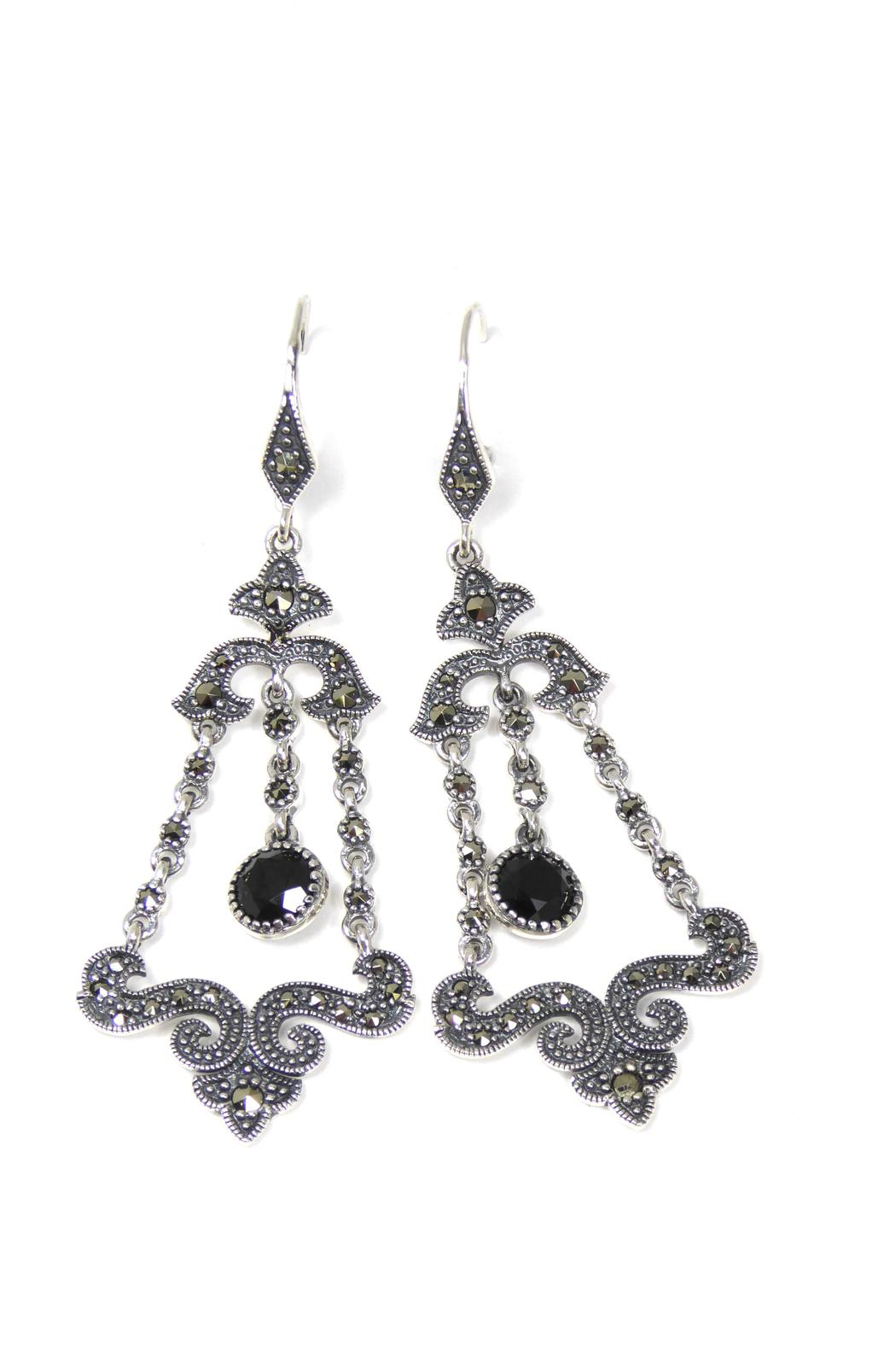 The Story Of Love Black Chandelier Earrings from Toronto — Shoptiques