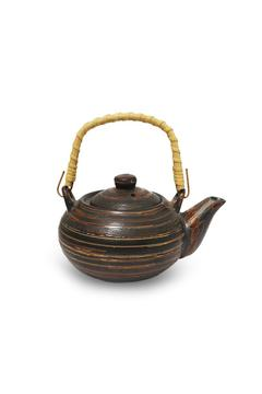 Shoptiques Product: Chocolate Swirl Tea Pot