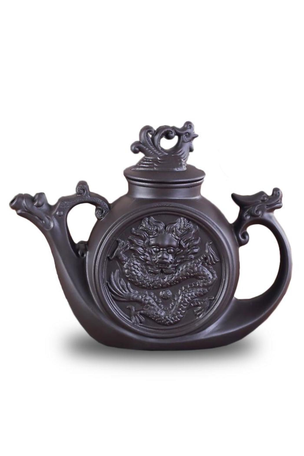 The Tea Farm Clay Dragon Phoenix Teapot - Front Cropped Image