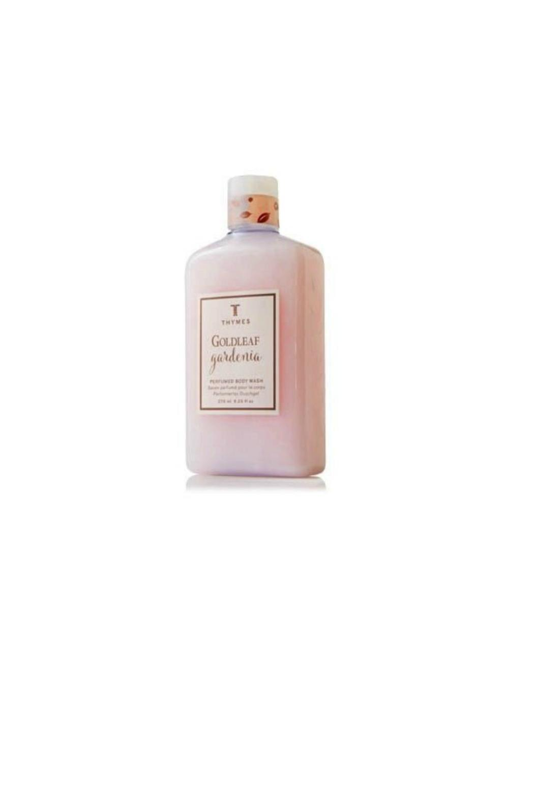 The Thymes Goldleaf Gardenia Bodywash - Front Cropped Image