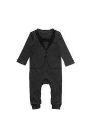 THE TINY UNIVERSE Velvet Tuxedo Black - Front cropped