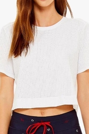The Upside Lara Cropped Tee - Front full body