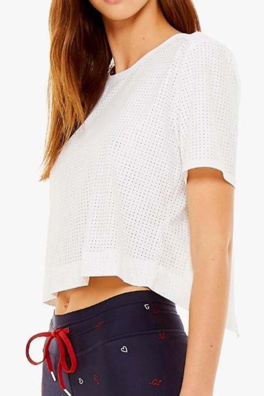 The Upside Lara Cropped Tee - Side Cropped Image