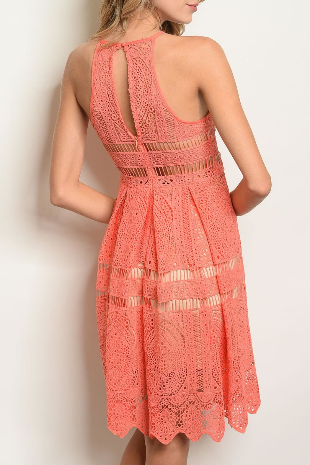The Vintage Shop Coral Nude Dress - Front Full Image
