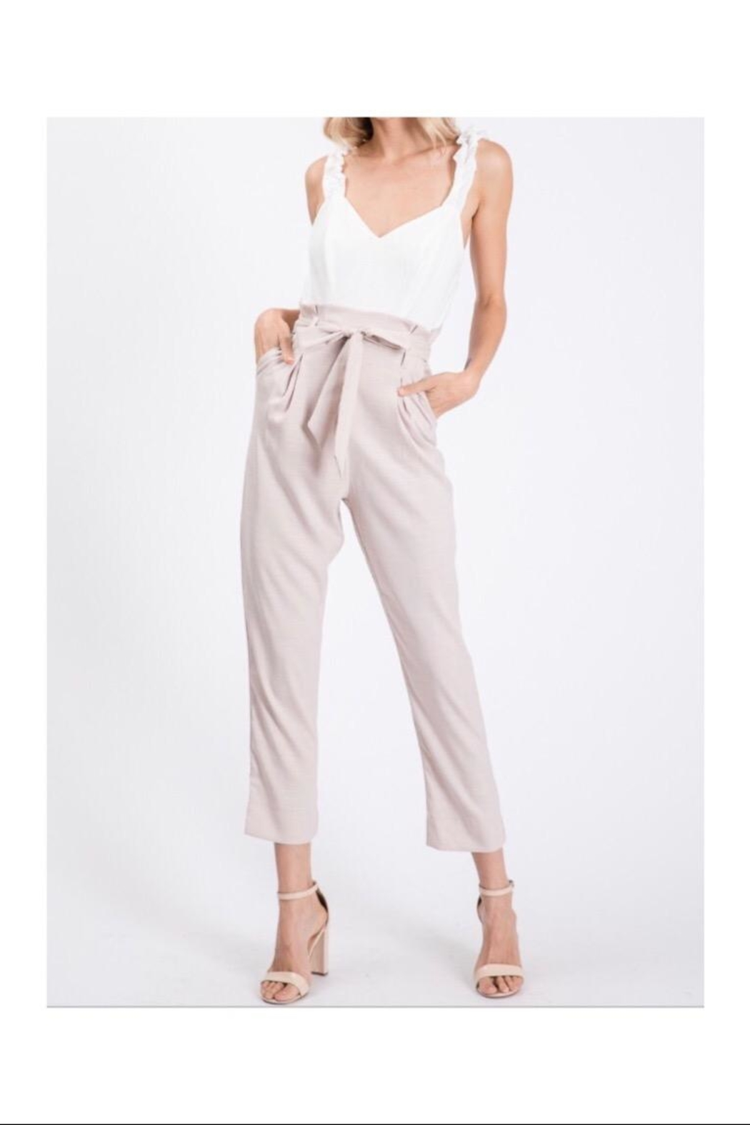 The Vintage Shop Ruffled Strap Jumpsuit - Front Cropped Image
