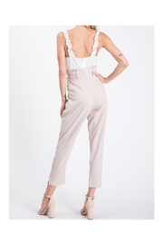 The Vintage Shop Ruffled Strap Jumpsuit - Front full body