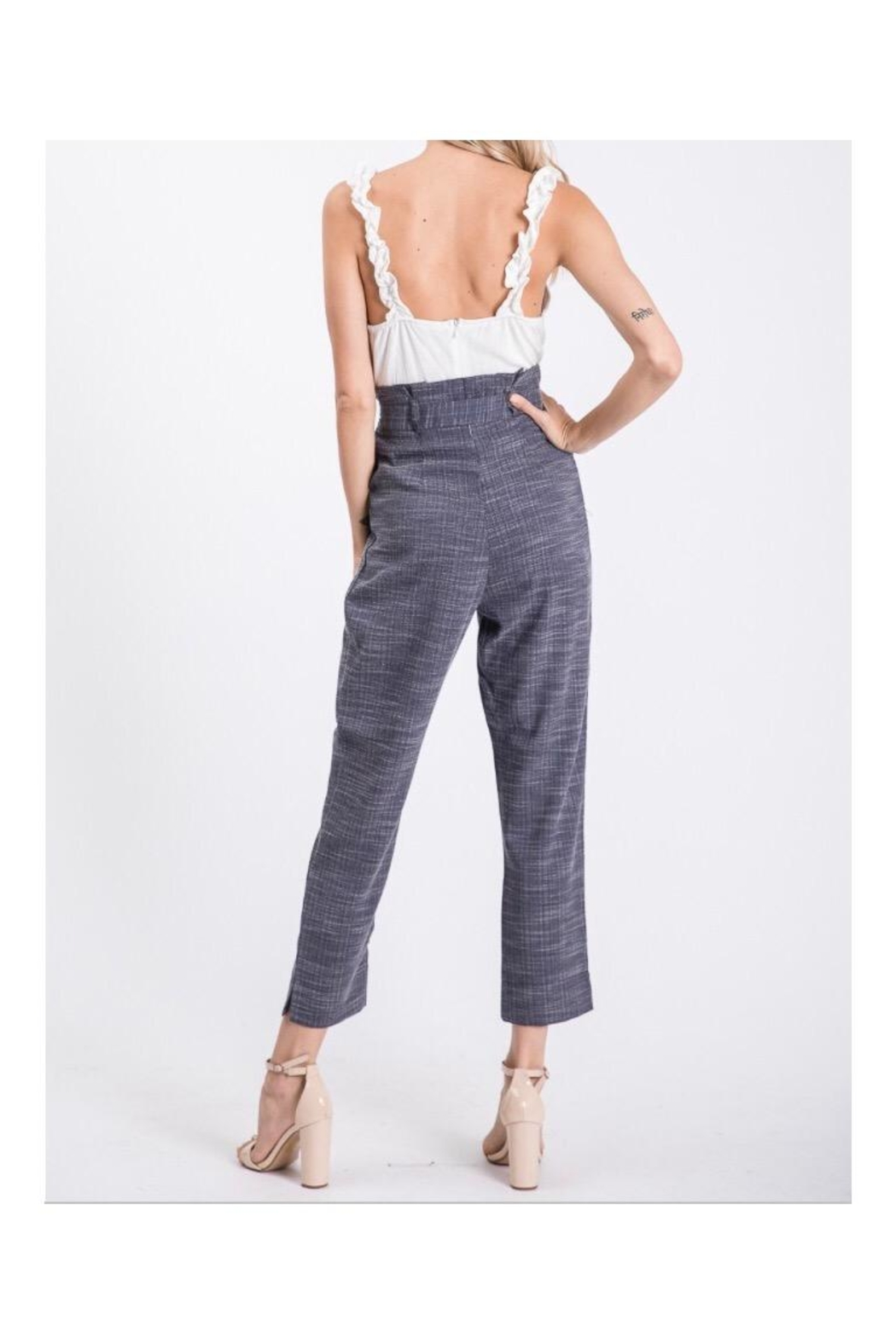 The Vintage Shop Ruffled Strap Jumpsuit - Front Full Image