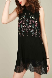 The Vintage Valet Black Embroidered Tank - Front full body