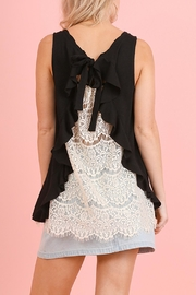 The Vintage Valet Black Laceback Tanktop - Product Mini Image