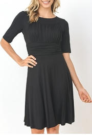 The Vintage Valet Black Ruched Dress - Product Mini Image