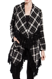 The Vintage Valet Blackwhite Plaid Cardigan - Product Mini Image
