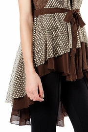 The Vintage Valet Brown Chiffon Vest - Front full body